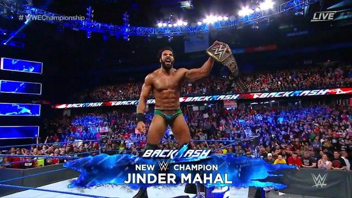 Jinder Mahal Defeats Randy Orton. Becomes 50th WWE Champion
