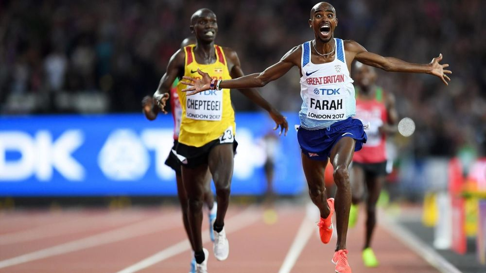 Mo Farah Wins Gold 10'000m London 2017 IAAF World Athletics Championships 5000m.